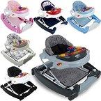 3IN1 Lauflernhilfe / Babyschaukel mit Spielcenter (12 Melodien) und Einlage (GRAU)