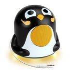 Pinguin Lautsprecher mit Passiven Woofer & Nachtlicht für Kinder - Kompatibel mit HTC One M9 , Motorola Moto E , Samsung Galaxy S6 und weiteren Smartphones , Tablets , MP3-Playern , GOgroove Pal Junior