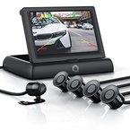 "CSL - Rückfahrkamera mit Display / Einparkhilfe Sensorsystem Set   Autokamera Rückfahrhilfe   4,3"" (10,922cm) TFT-Monitor   Blickwinkel: 135°   hochwertige Sensoren-Technik   wasserdicht IP68 (Kamera)"