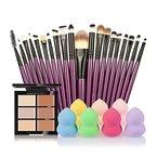 Tefamore 6-Farb-Concealer + 20 Make-up Pinsel + Wasser Blätterteig Puderquaste