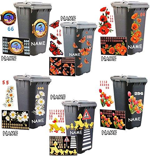Mülltonnenaufkleber Vergleich 2019