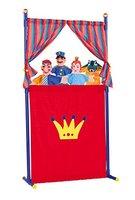 Simba 104586783 - Puppentheater mit 4 Handpuppen, 132cm