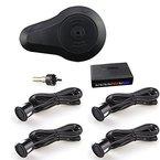 Car Rover® Auto Einparkhilfe Rückwärtseinparken Auto Rückfahrradar Rückradar Radar mit 4 Sensoren und Summer - Schwarz
