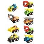 Mini Baufahrzeuge Kunststoff Spielzeugauto 9 pcs für Kinder ab 3 jahren