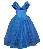 JerrisApparel Aschenputtel Kleid Prinzessin Kostüm Schmetterling Mädchen (130, Blau)