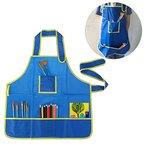ULTNICE Wasserdichtes Kind Anstrich Schutzblech für DIY Kunst Anstrich Zeichnungs Blau 49*48CM