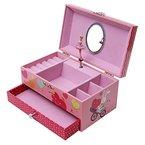 Songmics Schmuckkästchen Musikspieldose Spieldosen Musikdosen Spieluhren - Spieluhr für Kinder abschließbar mit Spiegel JMC002