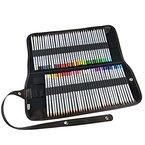 Ipow® 72 Farben Buntstifte Set Marco Raffine Farbstifte mit Leinwand Roll-up Stiftemappe Federtasche, perfekt für Kunst-Zeichnung