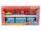 Dickie Spielzeug 203314283 - Stadtbus-Set mit Bus, Taxi und Straßenbahn