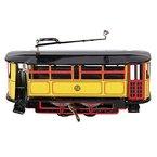 Vintage Blechspielzeug Alte Straßenbahn Blechmodell Trolley mit Wind-up