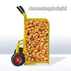 Dema Sackkarre - Wagen - Stechkarre für Brennholz Traglast 150 kg Gelb