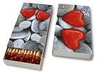 Kaminhölzer Love stones - Steine der Liebe / Hochzeit / Valentinstag - 45 Streichhölzer