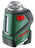 Bosch DIY Linienlaser PLL 360, 4x Batterien AA, Universalhalterung, Schutztasche (Arbeitsbereich 20 m, Messgenauigkeit ± 0,4 mm/m)