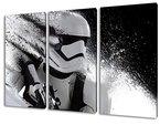 Stormtrooper Star Wars, 3-teiliges Leinwandbild (120cm x 80cm), TOP-Qualität! Wand-Bild erhältlich von klein bis groß (XXL) Made in Germany! Preiswerter fertig gerahmter Kunst-Druck zum Aufhängen - tolles und einzigartiges Motiv. Kein Poster oder Plakat!