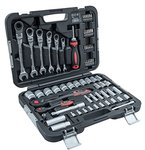 Connex Premium-Werkzeugkoffer, inklusive Gelenkratschengabelschlüssel, 68-teilig, COXBOH600068