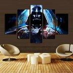 H.COZY 5-Panel moderne Kunst Wand Stormtrooper Star Wars Filmplakat Wanddekoration Malerei Kunstdruck auf Leinwand (ohne Rahmen) Unframed far41 50 Zoll x30 Zoll