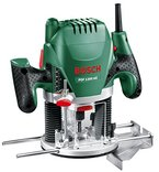 Bosch DIY Oberfräse POF 1200 AE, Nutfräser, Absaugadapter, Gabelschlüssel, Kopierhülse, Parallelanschlag, 3 Spannzangen, Zentrierstift (1.200 W,max. 28.000 1/min, Nutfräser-Ø 8 mm)