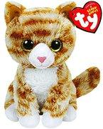 TY 42099 - Booties - Katze mit Glitzeraugen, Plüschtier, gescheckt, 15 cm