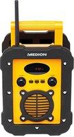 Medion Life E66285 (MD 84815) Spritzwassergeschütztes Freizeitradio, IP44, UKW/MW Radio, Mono Lautsprecher 5 Watt RMS, Stabantenne, Batterie und Netzbetrieb