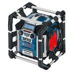Bosch Professional GML 50 Akku-Baustellenradio (mit Ladefunktion, 50 Watt Nennleistung, USB, SD, 2x Aux-In, Aux-Out, 12 V Steckdose) 0601429600
