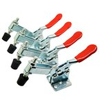 TUOYA 4PCS Quick Release Horizontal Klemmen Toggle Clamp GH-201-B 90kg 198lbs Kapazität Kniehebelspanner