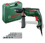 Bosch DIY Schlagbohrmaschine PSB 570 RE, 4 tlg. Universalbohrer-Set, Zusatzhandgriff, Tiefenanschlag, Koffer (570 W, max. Bohr-Ø: Beton 10 mm, Holz: 25 mm)
