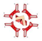 4 x DKB Gehrungsspanner Gehrungszwingen 75mm Winkelspanner Winkelzwinge 90° Winkelzwinge Schraubzwinge