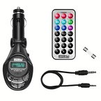 mumbi KFZ FM Transmitter / MP3-Player + Fernbedienung, SD MMC Slot und USB Anschluss