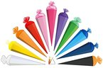 Schultüte - einfarbig - Rohling / Bastelschultüte - Weiß - 70 cm - mit Holzspitze / Filzabschluß - Zuckertüte Roth - zum Basteln, Bemalen und Bekleben