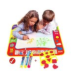 Magic Aqua Doodle Matte(80cmx60cm)with 3 magic water Stift,Wholethings Magnetic Learning Painting Doodle Scribble Boards mit drei Stift und Cartoon-Siegel