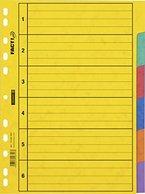 Brunnen 1066585 Ringbuchregister/ Register für Ordner / Ringbücher (A4, aus Karton, 6-teilig, 6 Farben)