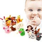Baby Fingerpuppen, ISUDA 12 Stück lustige Fingertiere Handkasperletheater Puppets, Set aus Plüsch, Tiere zum Spielen und Lernen (Tiere Fingerpuppe(12 Stück))