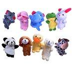 10 Fingerpuppen Set für Kinder | Velvet Tiere Handpuppen | Niedliches Spielzeug Fingertiere | kostenlose Lieferung