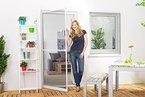 Insektenschutz Fliegengitter Tür Alurahmen Master weiß 100 x 210 cm