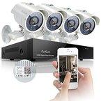 Funlux® Outdoor 700TVL Videoüberwachung Set 8CH 960H DVR Rekorder Überwachungssystem mit 4 Außen Höhe Auflösung Tag Und Nacht IR-Cut Eingebaut CCTV Überwachungskameras Anschluss Ohne Festplatte