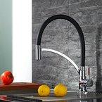 Homelody Schwarz Küchenarmatur Armatur Spüle Spültischarmatur Wasserhahn Küche Mischbatterie Spiralfederarmatur