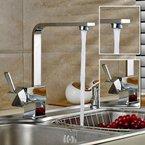 Auralum® Armatur Einhebel Wasserhahn Waschtischarmatur Wasserfall Waschbecken Bad Küche