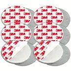 mumbi 6-er Set Magnetbefestigung für Rauchmelder und glatte Flächen nicht für Rauhfaser oder losen Putz