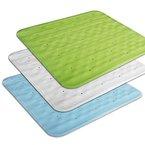 casa pura® Duscheinlage Lea | rutschfest | Lochung für optimalen Wasserabfluss | PVC-frei | 55 x 55 cm | drei Farben (grün)
