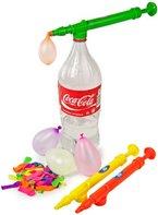 Wasserballon Pumpe - super Praktisch - für PET Flaschen & 50 Wasserbomben Wasserspritze Wasserpistole