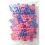 100 Steckwürfel 2-farbig (rot, blau), 1,7cm, allseitig steckbar