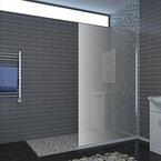 Walk In Dusche Duschabtrennung Duschwand Duschkabine 100x195cm aus ESG Sicherheitsglas mit Nanobeschichtung