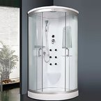 """Luxus4Home Duschtempel Set """"Lorene"""" Duschkabine 100 x 100 x 215 cm mit Armaturen Massagefunktion Dusche Sicherheitsglas (ESG)"""