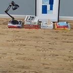 [neu.haus] Laminat Vinyl-Boden Eiche natur 1m² - PVC-Design-Bodenbelag mit gefühlsechter Holz-Struktur stark strukturiert Planken zum Kleben - 4 Dekor Dielen = 1,114 qm