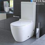 Design Stand WC mit Geberit Spülgarnitur Keramik Toilette Spülkasten WC Set WC-Sitz mit Soft-Close (Quick-Release Funktion)