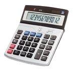 Genie 222 12-stelliger Business-Tischrechner (Dual-Power (Solar und Batterie), inkl. Währungsumrechnung) silber / grau