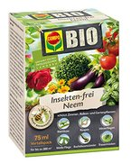 COMPO Bio Insekten-frei Neem, Insektizid mit breitem Wirkungsspektrum, u.a. gegen Blattläuse, Weiße Fliegen, Buchsbaumzünsler und Trauermücken, 75 ml Vorteilspack