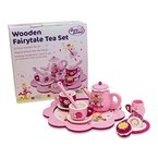 Holz Teeset Teeservice Kinder - Puppengeschirr aus Holz - Küchenspielzeug Mädchen - Lucy Locket