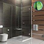 Eck-Dusche 6 mm Glas Duschkabine inkl. Antikalk Duschabtrennung Wannenmaß 80x90x195 Badezimmer