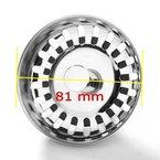 JZK® Universal Siebkörbchen/ Siebkorb/ Universalsieb/ Ablaufsieb/ Ersatzteil mit Durchmesser 65mm Durchmesser (81~82mm) für Excenterbedienung